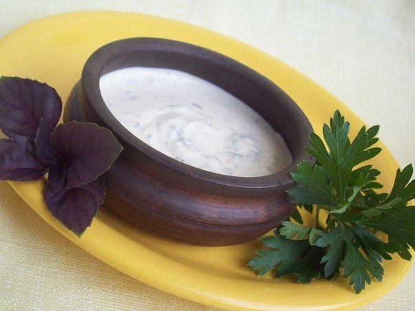 Горчично-сметанный соус - очень просто!