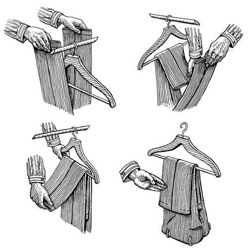 Учимся правильно вешать брюки (1 фото) - картинка