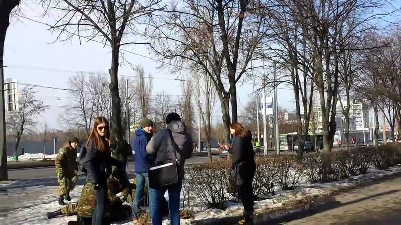 Теракт в Харькове. Момент взрыва 22.02.2015