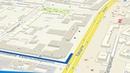 Анимированный путь по карте