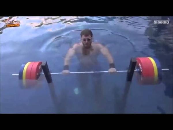 Dmitry Klokov - 190 kg Thruster bajo el agua