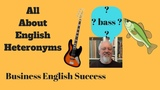Heteronyms - Same Spelling, Different Pronunciation, Different Meaning - Business English Success