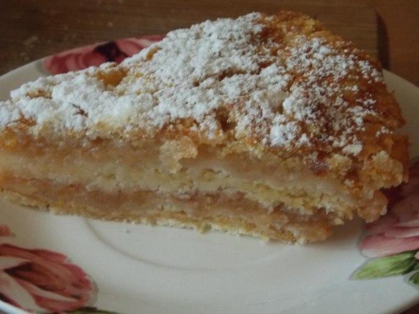 Варшавский пирог с яблоками
