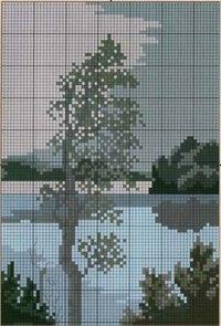Дерево - Схемы вышивки крестом - Дарина Гурина.