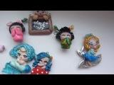 Коллекция украшений из полимерной глины 2: magic bottles, chibi, миниатюра, еда