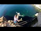 Литвинова Наташа мыс Фиолент Роупджампинг в Крыму с командой Скайлайн