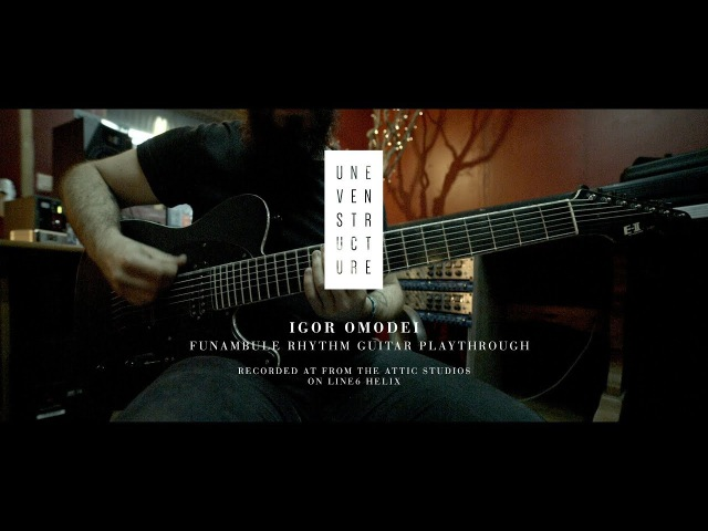 Uneven Structure Funambule Guitar Playthrough on Line6 Helix