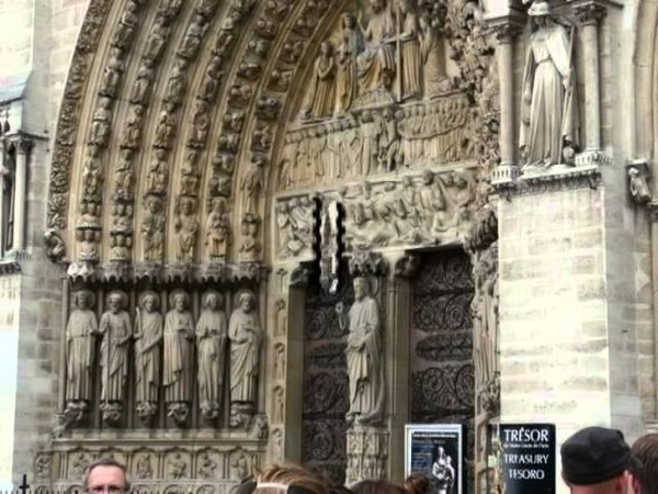 Экскурсия по собору Парижской Богоматери Париж часть 1 2013