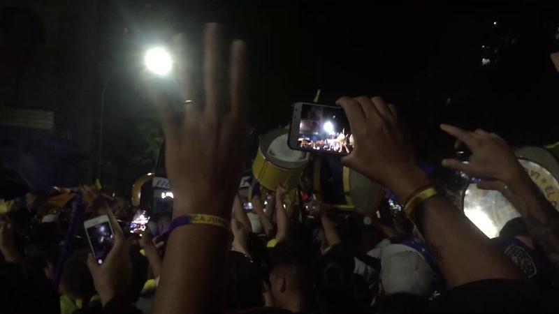 Banderazo - Pre final vuelta RiBer vs Boca - Copa Libertadores 2018