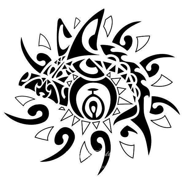 татуировка солнце эскизы: