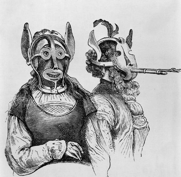 Наказание за «длинный язык» маска позора В XVI веке в Британии появилась, а потом нашла широкое распространение, маска позора приспособление для наказания за клевету, сплетни, оскорбления,