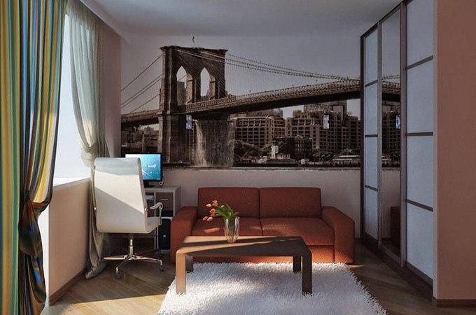 3D дизайн квартиры-студии от КНП - http://kvartirastudio.