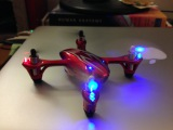 Hubsan x4 h107c HD quadcopter flying indoors and outdoors