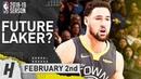 Klay Thompson Full Highlights Warriors vs Lakers 2019.02.02 - 28 Pts, Future Laker?