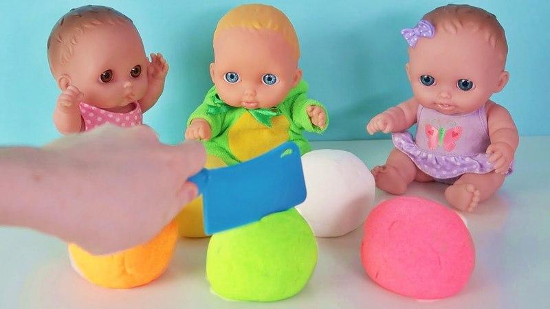 Куклы Пупсики открывают сюрпризы Маша и Медведь Фиксики Кинетический песок на канале Зырики ТВ