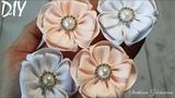 Нежные цветы из ленты ? Flowers from  ribbon ? DIY ? Svetlana Zolotareva