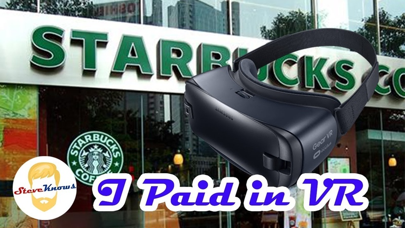 I went to Starbucks In VR and Paid with my Headset!!