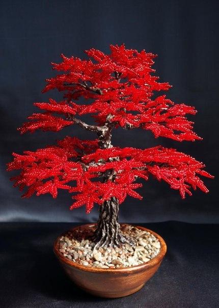 Из бисера деревья