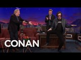Jim Carrey Crashes Jeff Daniels CONAN Interview  - CONAN on TBS