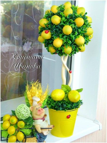 Топиарий лимонное дерево своими руками фото