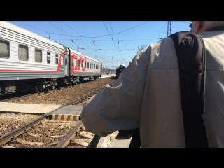 В Таганроге встречают ретро-поезд «Победа».