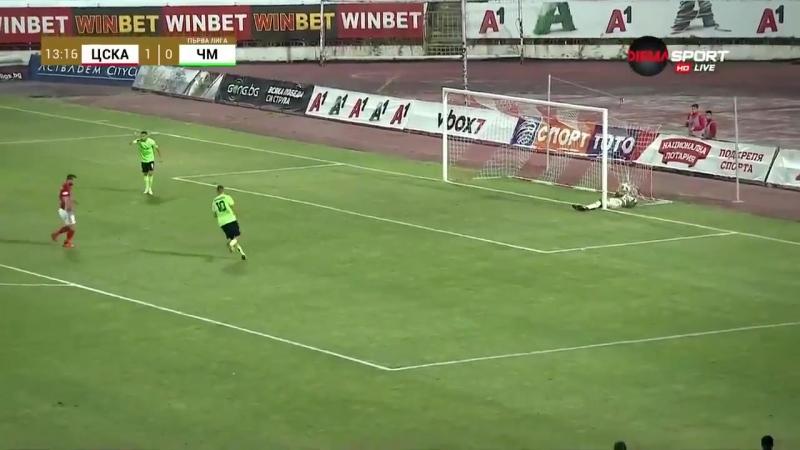 Amazing own goal - CSKA CSKASofia Chernomore Cerniauskas - OwnGoal Epic Amazing Goalkeeper Mistake