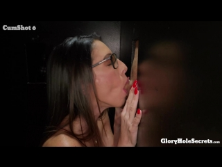 Dava Fox (Dava's First Gloryhole Video) [Big Tits, Brunettes, Cum Swallow, Deepthroat, Glasses, Hairy, MILF, 1080p]