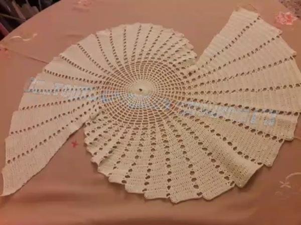 Скатерть-салфетка спираль крючком Мастер класс Spiral Centro caminho de mesa em croche