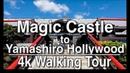 ⁴ᴷ Walking Tour Magic Castle to Yamashiro Night Market Hollywood | 4K DJI Osmo | Lofi Music