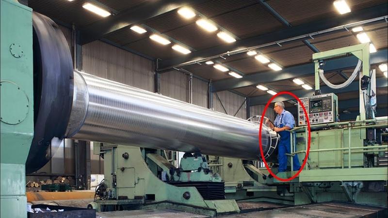 Modern CNC Automatic Milling Machine ¦¦ Big Turbine Blades Manufacturing by CNC Milling Machinery