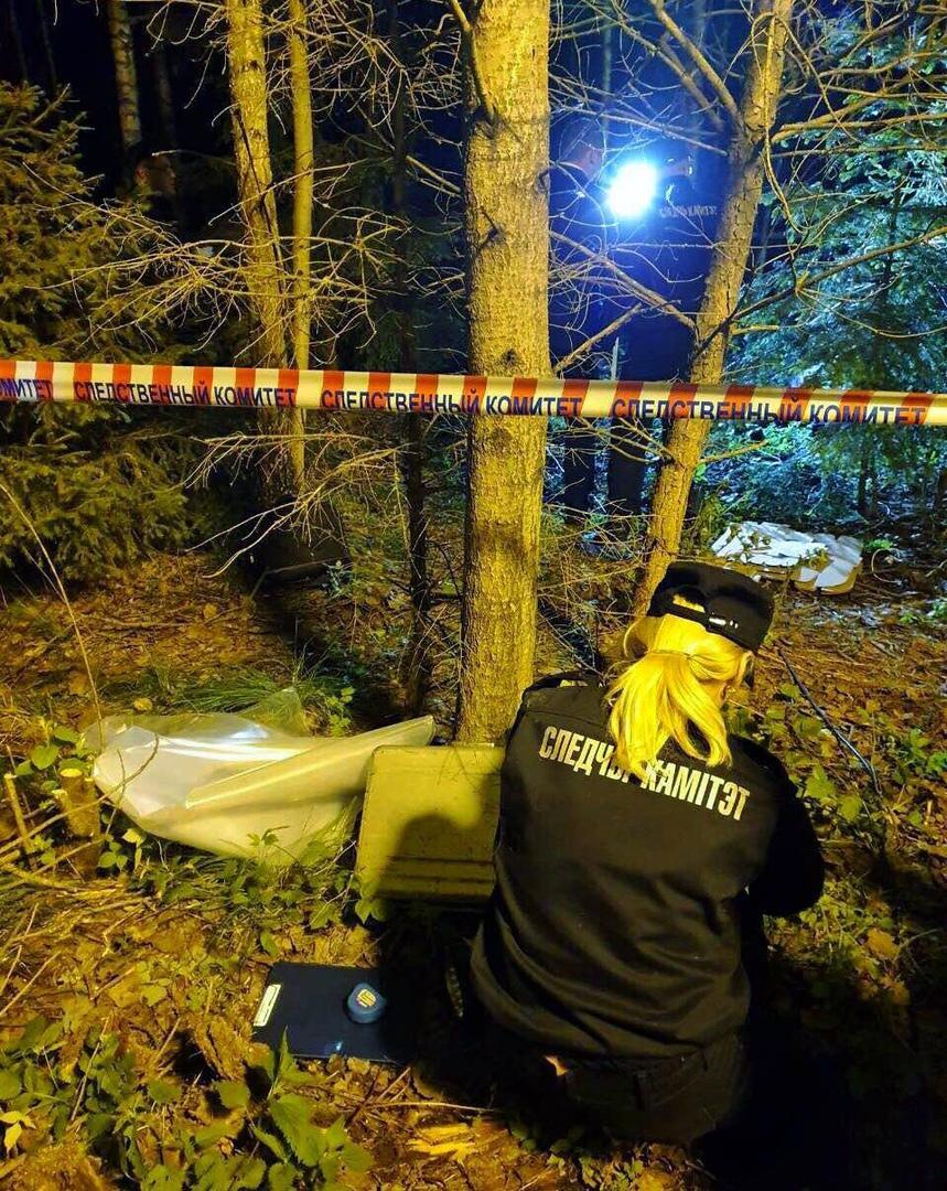 Опубликованы фото и видео с места обнаружения тела погибшего сотрудника ГАИ (Могилёв)