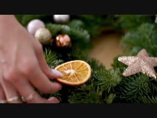 Декор-Бар `Овсянка` — Preview мастер-класса по созданию рождественского венка.