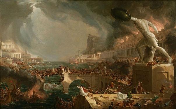 «Путь империи» серия из 5-ти картин американского художника Томаса Коула, написанных в 1833-1836 гг В то время считали идеальным этапом развития человечества именно пасторализм, а идею империи