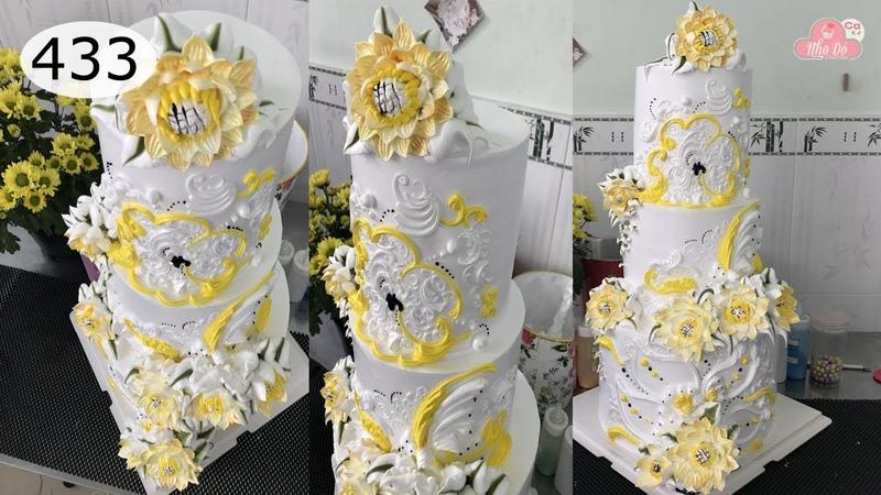 Chocolate cake decorating bettercreme vanilla (433) Học Làm Bánh Kem Đơn Giản Đẹp - Bánh Cưới (433)