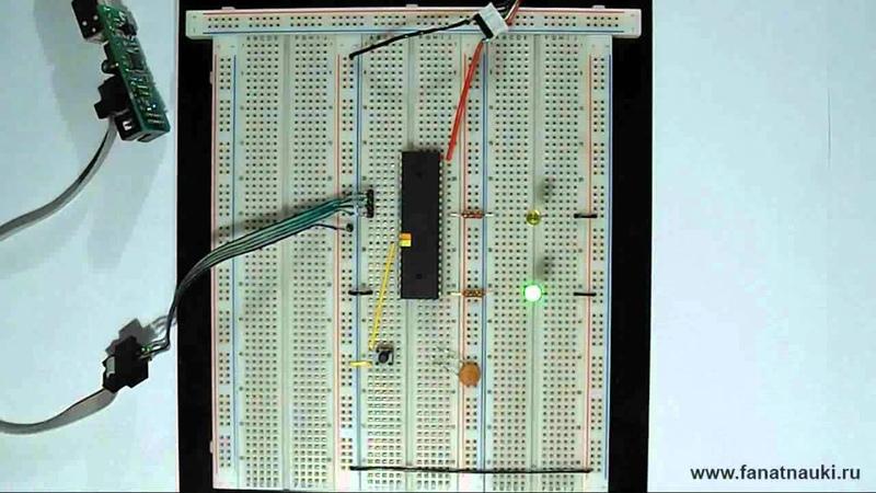 8 Программирование микроконтроллеров AVR. Внешние прерывания по нисходящему фронту.
