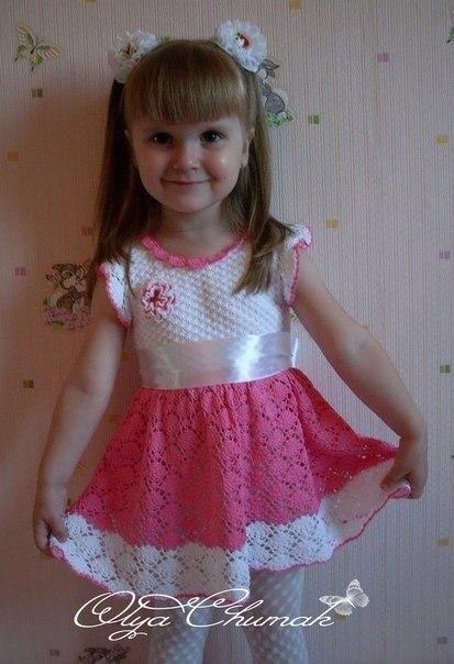 Вязаное детское платье, схема (9 фото) - картинка