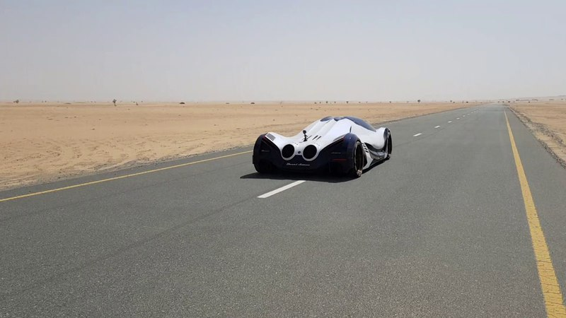 Devel Sixteen playing in the desert on low boost (20% Throttle)