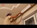 Как клеить потолочный плинтус багет галтель молдинги Стыковка плинтуса