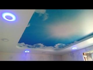 натяжной потолок дабл вижн в 2-ва уровня