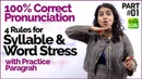 Syllable Word Stress rules for 100% Correct Pronunciation | Pronounce English Words Clearly
