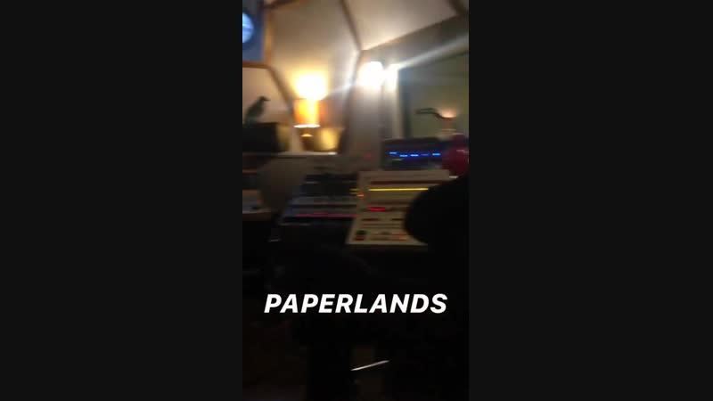 Today Paperlands were recording on a boat. Adam Sopp , Richie Hart, Arthur Darvill and some other producers were working on thei