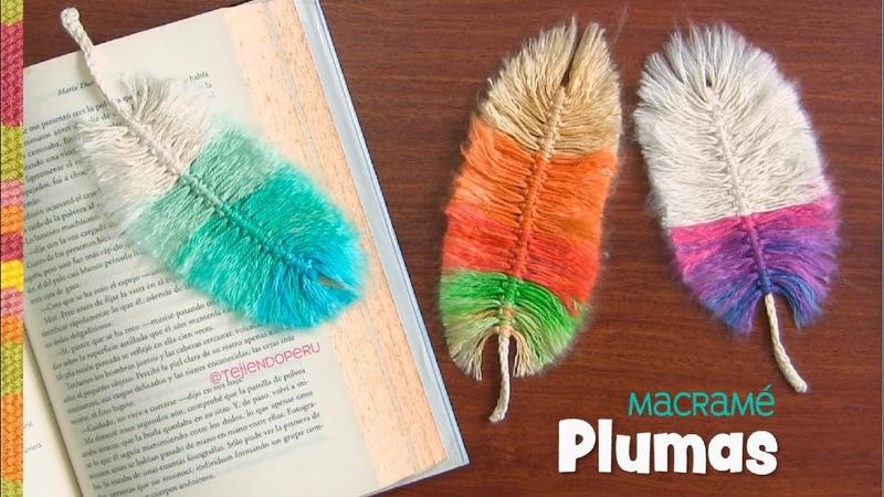 Plumas de colores en macramé / Tejiendo Perú