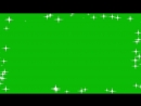 Green Screen Overlays HD Sparks Fly Frame Animation Футаж Искры Рамка Блестит Хр