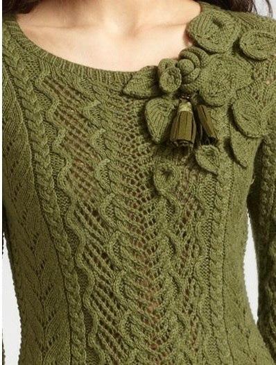 Осинка вязание спицами женщинам 777