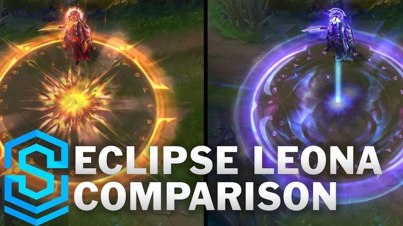 Solar vs Lunar Eclipse Leona Comparison League of Legends
