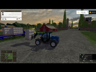 Погрузка паллет с шерстью Farming Simulator 15