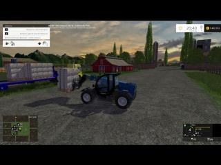 Погрузка паллет с шерстью Farming Simulator 15