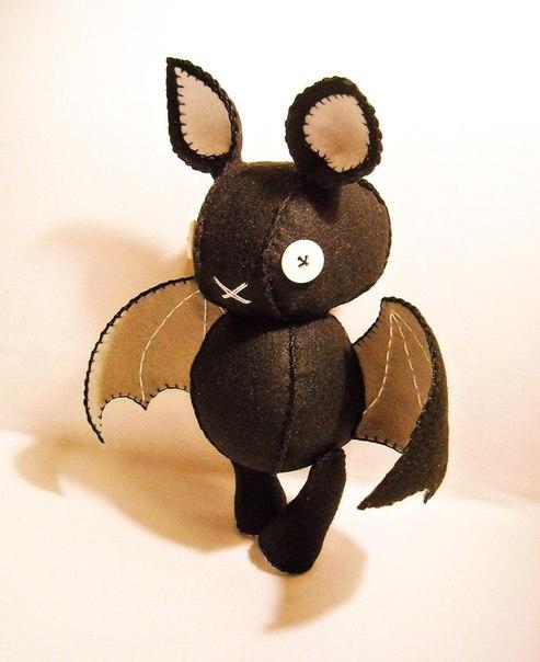 Очаровательные летучие мышки. Шьем сами… (9 фото) - картинка