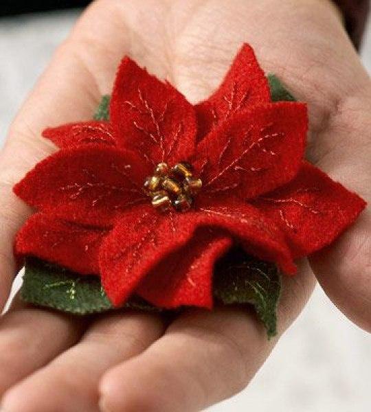 Как сделать цветы пуансетии своими руками