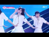 PRODUCE 48 1:1 eye contact | Нагано Сэрика (AKB48) - Gfriend Love Whisper Team 1 group battle